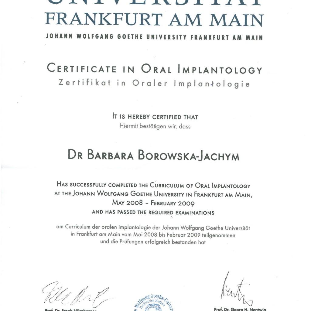 certyfikat Franfurt 1024x1024 - Implants