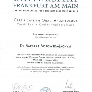 certyfikat Franfurt 300x300 - Dr Barbara Borowska-Jachym